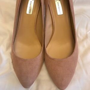 I.N.C. Women's Blush Suede Zitah Pointed Toe Pumps